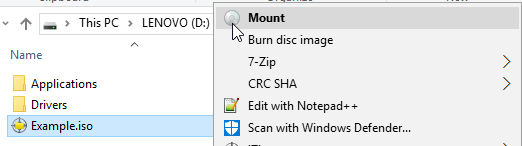 7 full How to Extract an ISO Disk Image File in Windows 8 and 10 using the BuiltIn Mount Option