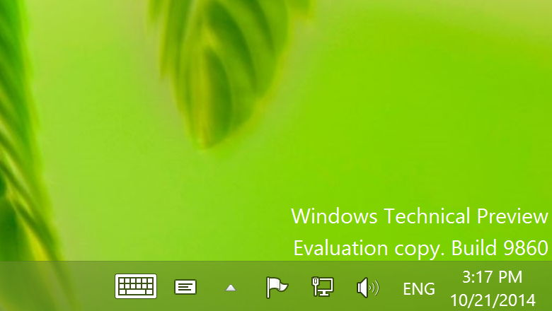 Windows 10 Technical Preview Gets First Update - Build 9860