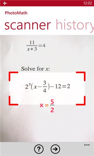 Updated Photomath app can now solve handwritten math problems