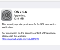 Apple updates iOS to 7.0.6/6.1.6 in order to fix SSL vulnerability, Jailbreak is still possible