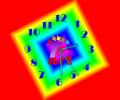 7art Neon Clock ScreenSaver Screenshot 0