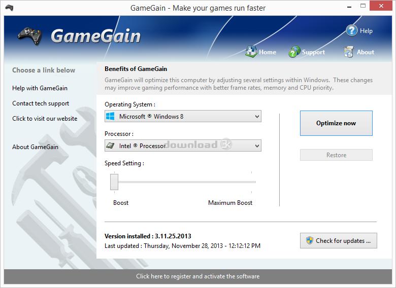 Gamegain ключ скачать