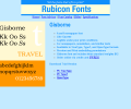 Gisborne Font Type1 Screenshot 0