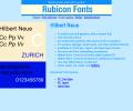 Hilbert Neue Fonts Type1 Screenshot 0