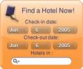 Hotel Search Dashboard Widget Screenshot 0