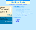 Hilbert Condensed Font TT Screenshot 0