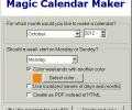 Magic Calendar Maker Screenshot 0