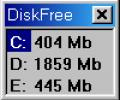 Mihov DiskFree Screenshot 0