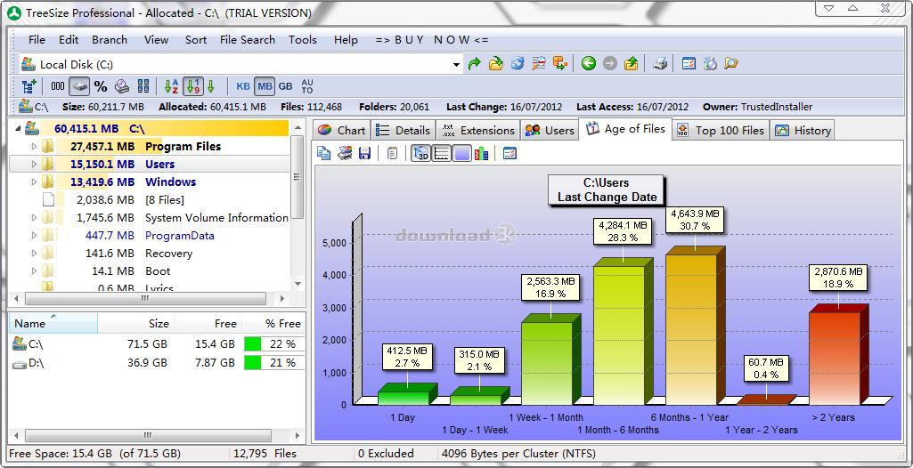 TreeSize Professional 7 0 4 Review & Alternatives - Free
