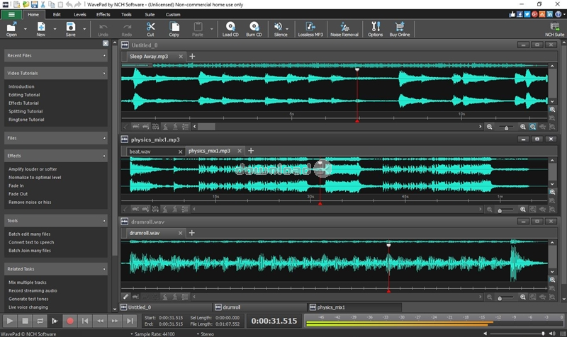Download wpsetup.exe Free trial - Wavepad Audio and Music Editor Pro 10.85 install file