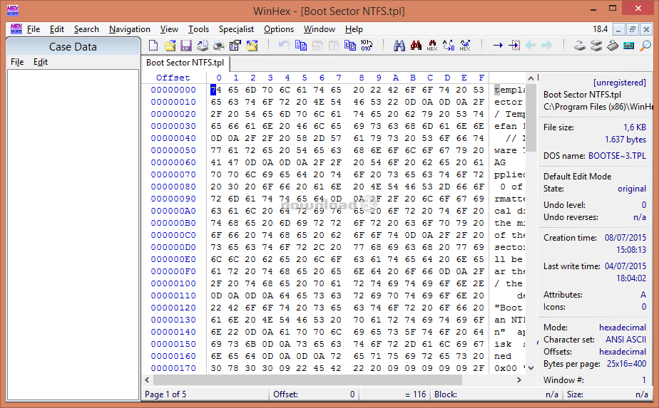 WinHex 19 8 Review & Alternatives - Free trial download - Hex Editor