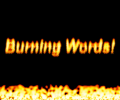Burning Words Screensaver Screenshot 0