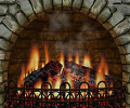 3D Realistic Fireplace Screen Saver Screenshot 0