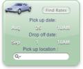 CarRental Yahoo! Widget Screenshot 0