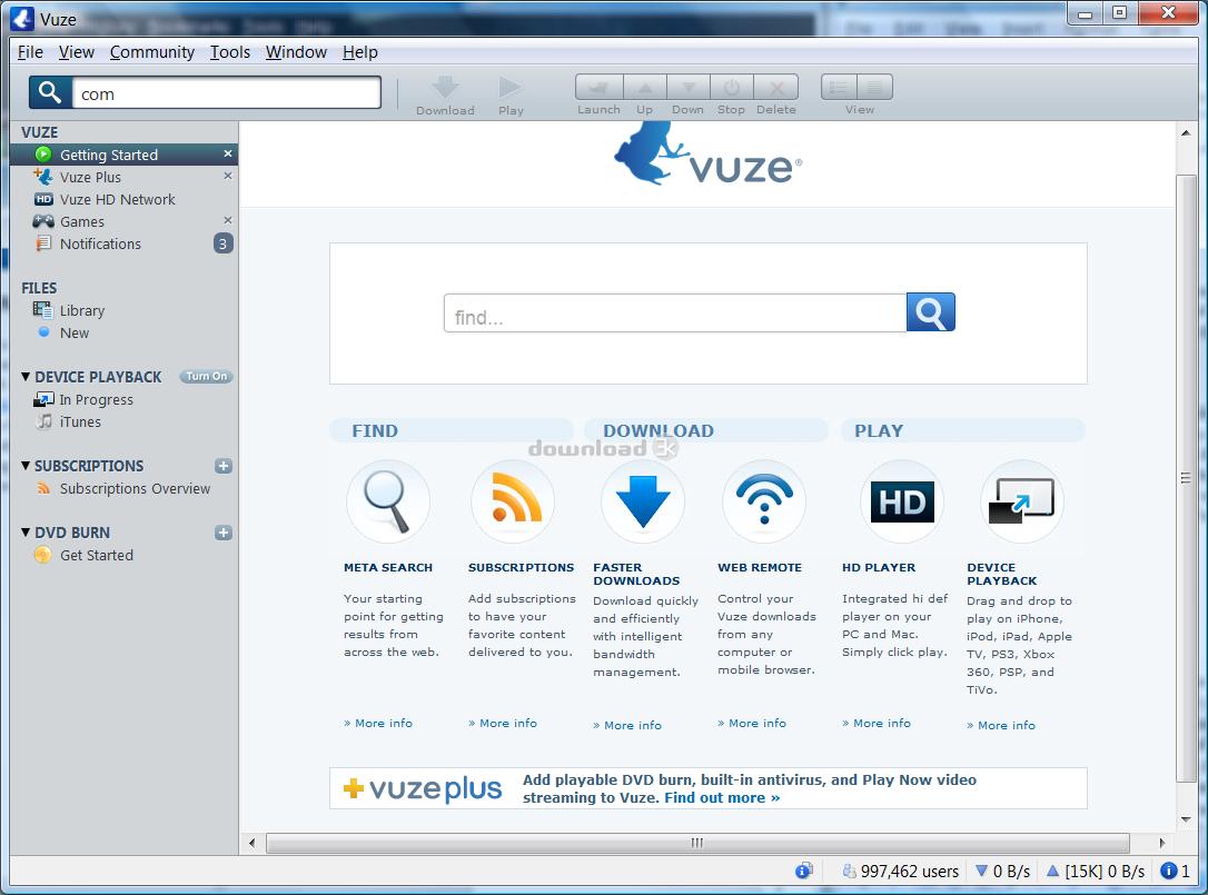 Download Vuze_Installer32 exe Free - Vuze Bittorrent Client