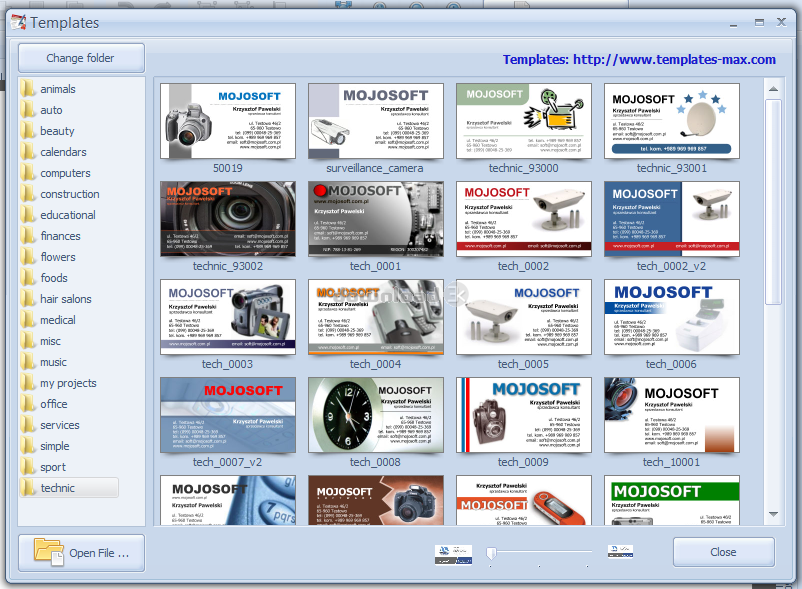 Businesscards mx 50 review alternatives free trial download screenshots reheart Image collections