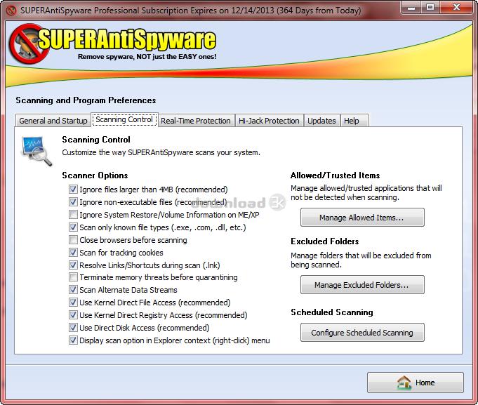 superantispyware professional trial