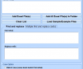 Excel Find and Replace In Multiple Files Software Screenshot 0