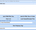 Strip HTML Tags From Multiple Files Software Screenshot 0