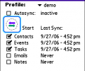 Synthesis SyncML Client PRO for PalmOS Screenshot 0