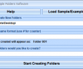 Create Multiple Folders Software Screenshot 0