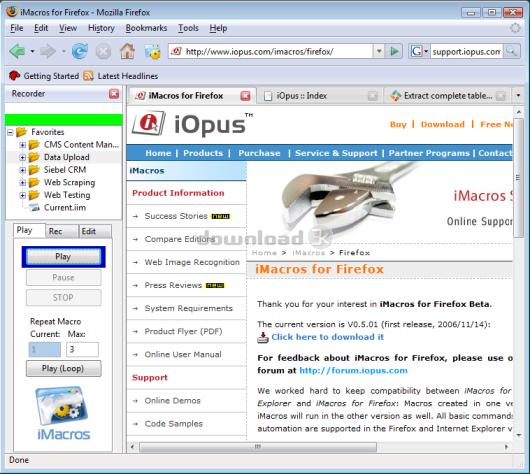 Download redirect-to-imacros xpi zip Free - iMacros for