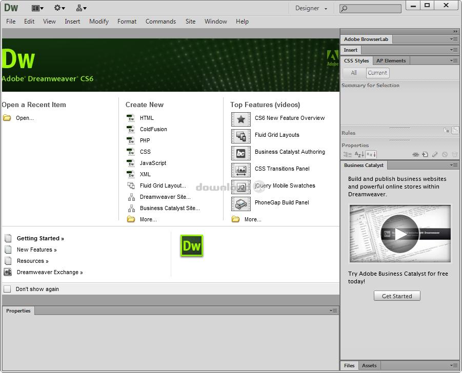 Dreamweaver Web Design Tool Free Download