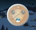 Santa Clock screensaver Screenshot 0