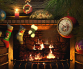 Fireside Christmas 3D Screensaver Screenshot 0