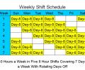8 Hour Shift Schedules for 7 Days a Week Screenshot 0