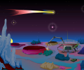 Deep Space Clock ScreenSaver Screenshot 0
