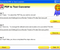 Easy-to-Use PDF to Text Converter Screenshot 0