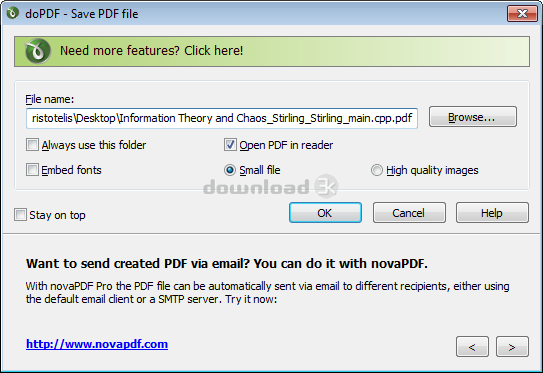 Download dopdf-full exe Free - doPDF 10 3 115 install file