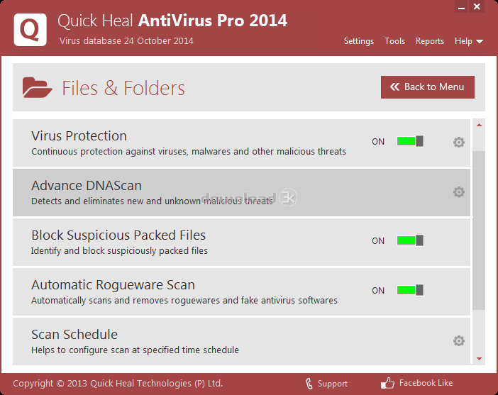 antivirus setup for quick heal