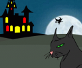 Witchy Night Halloween Wallpaper Screenshot 0