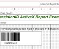 PrecisionID 1D Barcode ActiveX Control Screenshot 0