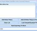 MS Word Import Multiple OpenOffice Writer Documents Software Screenshot 0