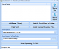 Excel Export To Multiple CSV Files Software Screenshot 0