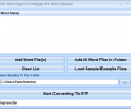 MS Word Export To Multiple RTF Files Software Screenshot 0