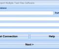 Sybase ASE Import Multiple Text Files Software Screenshot 0
