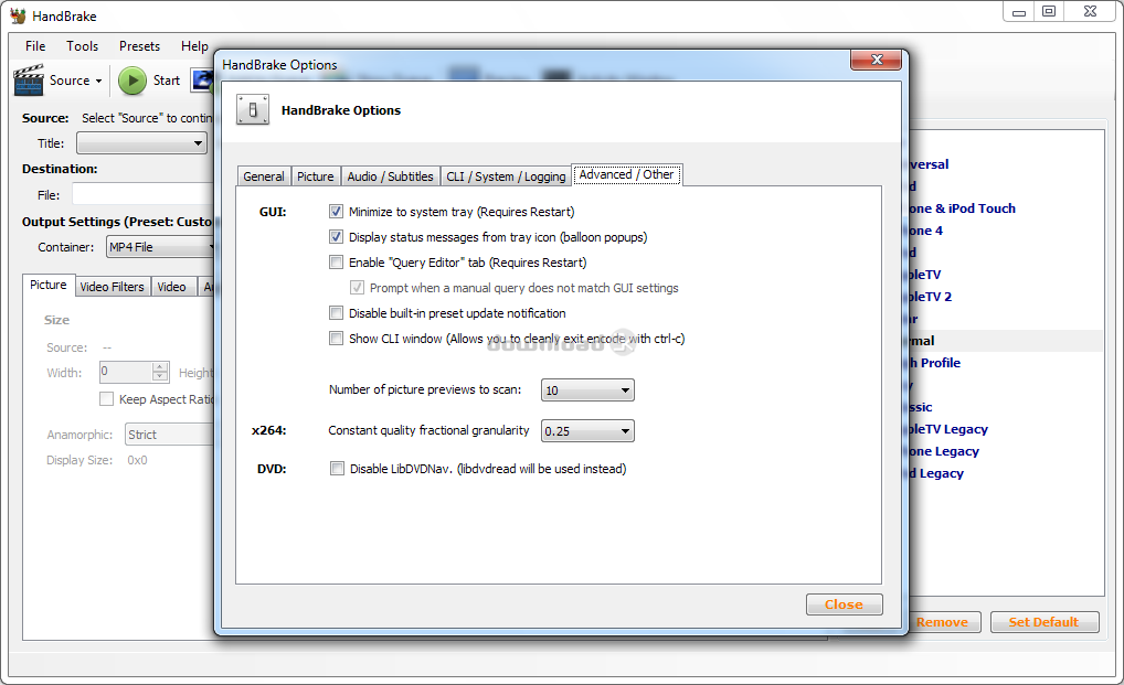 Download HandBrake-1 2 0-x86_64-Win_GUI exe Free - HandBrake