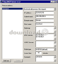 Download dhcp exe Free - Tiny DHCP Server 1 3 5517 install file