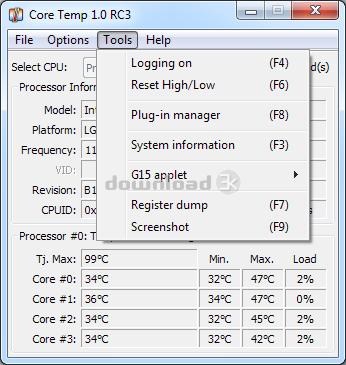 core temp installer