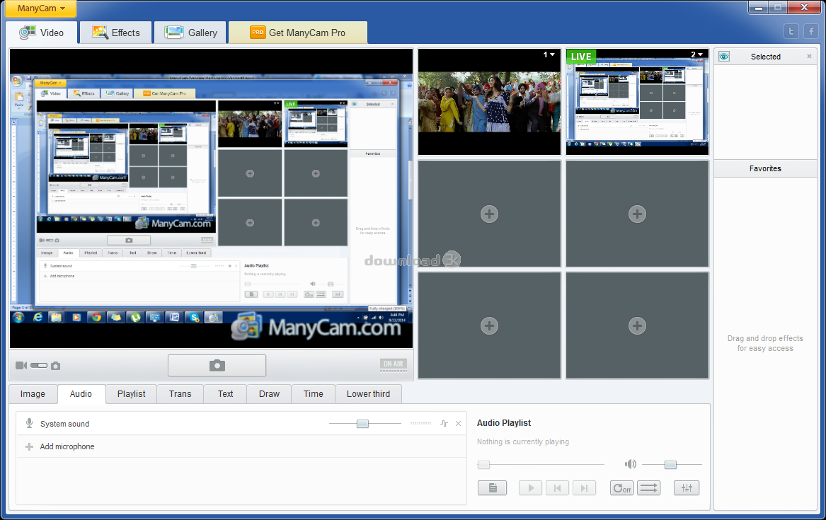 download manycam free webcam effects software