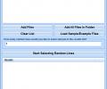 Select Random Lines From Files Software Screenshot 0