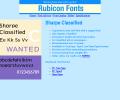 Sharpe Classified Font Type1 Screenshot 0