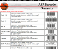 Native ASP Barcode Generator Screenshot 0