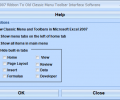 Excel 2007 Ribbon To Old Classic Menu Toolbar Interface Software Screenshot 0