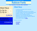 Hilbert Neue Fonts OpenType Screenshot 0