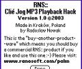 Clié Jog MP3 Playback Hack Screenshot 0
